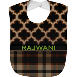 Moroccan & Plaid Baby Bib (Personalized)