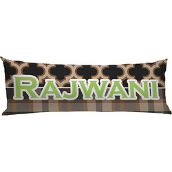 Moroccan & Plaid Body Pillow Case (Personalized)