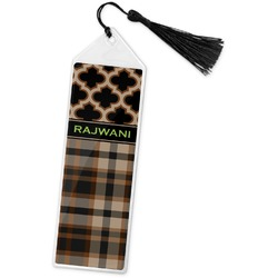 Moroccan & Plaid Book Mark w/Tassel (Personalized)