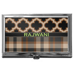 Moroccan & Plaid Business Card Case