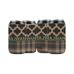 Moroccan & Plaid Can Sleeve (12 oz) (Personalized)
