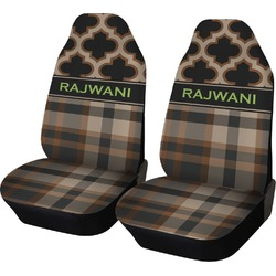 Moroccan & Plaid Car Seat Covers (Set of Two) (Personalized)