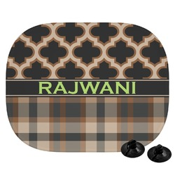 Moroccan & Plaid Car Side Window Sun Shade (Personalized)