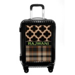 Moroccan & Plaid Carry On Hard Shell Suitcase (Personalized)
