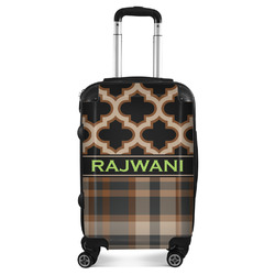 Moroccan & Plaid Suitcase (Personalized)
