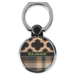 Moroccan & Plaid Cell Phone Ring Stand & Holder (Personalized)