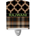 Moroccan & Plaid Ceramic Night Light (Personalized)