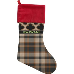 Moroccan & Plaid Christmas Stocking (Personalized)