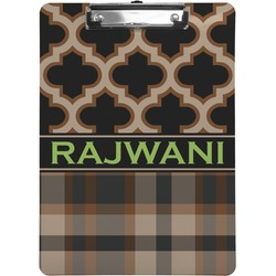 Moroccan & Plaid Clipboard (Personalized)
