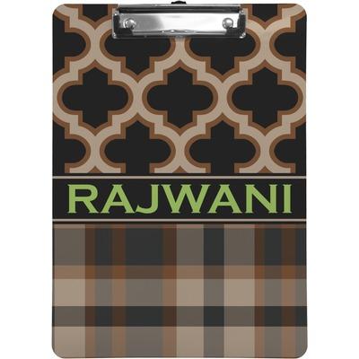 Moroccan & Plaid Clipboard (Personalized)