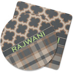 Moroccan & Plaid Rubber Backed Coaster (Personalized)