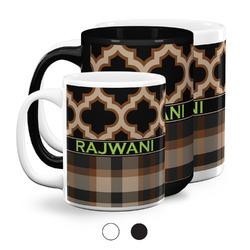Moroccan & Plaid Coffee Mugs (Personalized)
