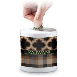 Moroccan & Plaid Coin Bank (Personalized)