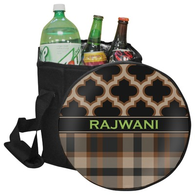 Moroccan & Plaid Collapsible Cooler & Seat (Personalized)