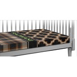 Moroccan & Plaid Crib Fitted Sheet (Personalized)