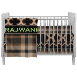 Moroccan & Plaid Crib Comforter / Quilt (Personalized)