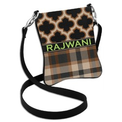 Moroccan & Plaid Cross Body Bag - 2 Sizes (Personalized)