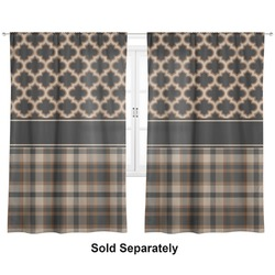 "Moroccan & Plaid Curtains - 20""x84"" Panels - Lined (2 Panels Per Set) (Personalized)"