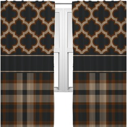 Moroccan & Plaid Curtains (2 Panels Per Set) (Personalized)