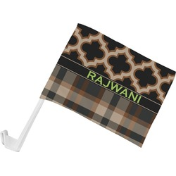 Moroccan & Plaid Car Flag (Personalized)