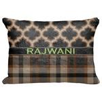 "Moroccan & Plaid Decorative Baby Pillowcase - 16""x12"" (Personalized)"