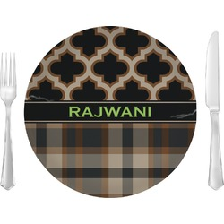 Moroccan & Plaid Dinner Plate (Personalized)