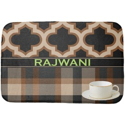 Moroccan & Plaid Dish Drying Mat (Personalized)