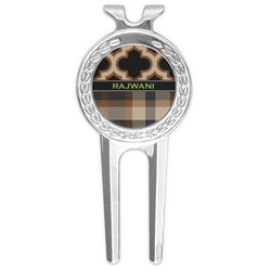Moroccan & Plaid Golf Divot Tool & Ball Marker (Personalized)