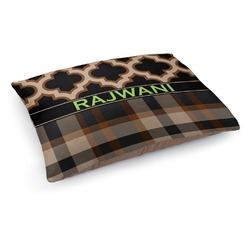 Moroccan & Plaid Dog Bed (Personalized)