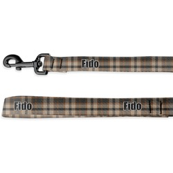 Moroccan & Plaid Deluxe Dog Leash (Personalized)