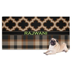 Moroccan & Plaid Dog Towel (Personalized)