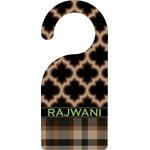 Moroccan & Plaid Door Hanger (Personalized)