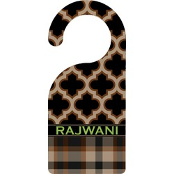 Moroccan & Plaid Door Hanger (Personalized)