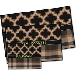 Moroccan & Plaid Door Mat (Personalized)