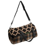 Moroccan & Plaid Duffel Bag (Personalized)