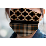Moroccan & Plaid Face Mask Cover (Personalized)