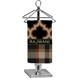 Moroccan & Plaid Finger Tip Towel - Full Print (Personalized)