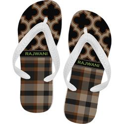 Moroccan & Plaid Flip Flops (Personalized)
