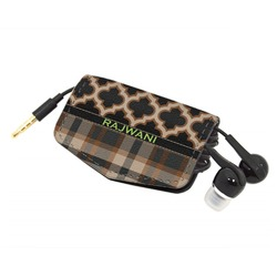 Moroccan & Plaid Genuine Leather Cord Wrap (Personalized)