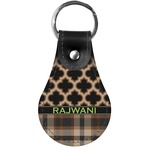Moroccan & Plaid Genuine Leather  Keychains (Personalized)