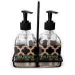 Moroccan & Plaid Soap & Lotion Dispenser Set (Glass) (Personalized)
