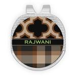 Moroccan & Plaid Golf Ball Marker - Hat Clip