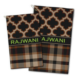 Moroccan & Plaid Golf Towel - Full Print w/ Name or Text