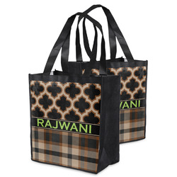 Moroccan & Plaid Grocery Bag (Personalized)