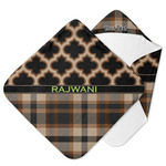 Moroccan & Plaid Hooded Baby Towel (Personalized)
