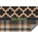 Moroccan & Plaid Indoor / Outdoor Rug (Personalized)
