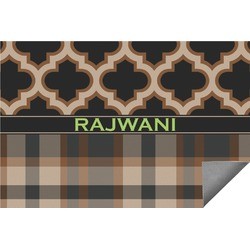 Moroccan & Plaid Indoor / Outdoor Rug (Personalized)