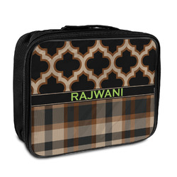 Moroccan & Plaid Insulated Lunch Bag (Personalized)