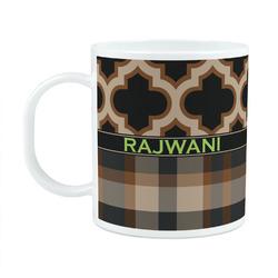 Moroccan & Plaid Plastic Kids Mug (Personalized)