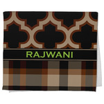 Moroccan & Plaid Kitchen Towel - Full Print (Personalized)